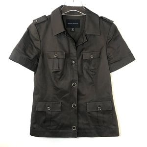 Banana Republic Safari Jacket Cotton Brown Blazer
